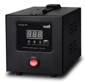 Stabilizator automat de tensiune cu releu WELL 500VA