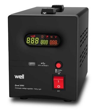 Stabilizator automat de tensiune cu releu WELL 1500VA
