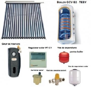 poza Pachet panou solar cu 20 tuburi vidate SONTEC si boiler 120 litri pentru 1-2 persoane