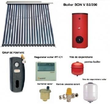 poza Pachet panou solar cu 40 tuburi vidate SONTEC si boiler 300 litri pentru 5-6 persoane