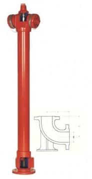 poza Hidrant SUPRATERAN constr neretezabila cu 2 rac tip B, Dn 80, HB= 1 m
