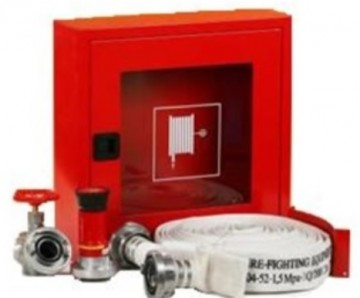 poza Cutie hidrant interior AURAS LT C52 cu usa cu sticla – rosie – complet echipata