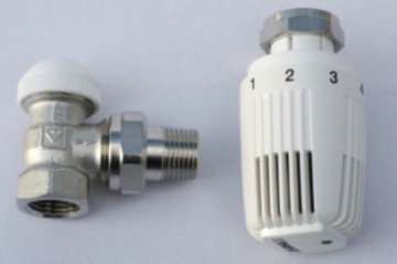 poza Set robinet coltar + cap termostatic 1/2 HERZ Classic