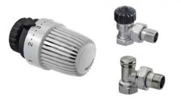 poza Set robineti 1/2 (tur/retur) + cap termostatat  HEIMEIER Calypso Tip S