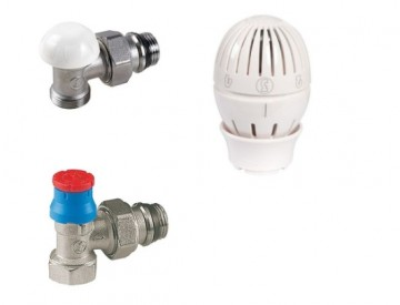 poza Set robineti tur-retur GIACOMINI cu cap termostatat 1/2 inch