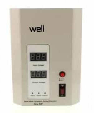 poza Stabilizator automat de tensiune cu servomotor montabil pe perete Well  500VA